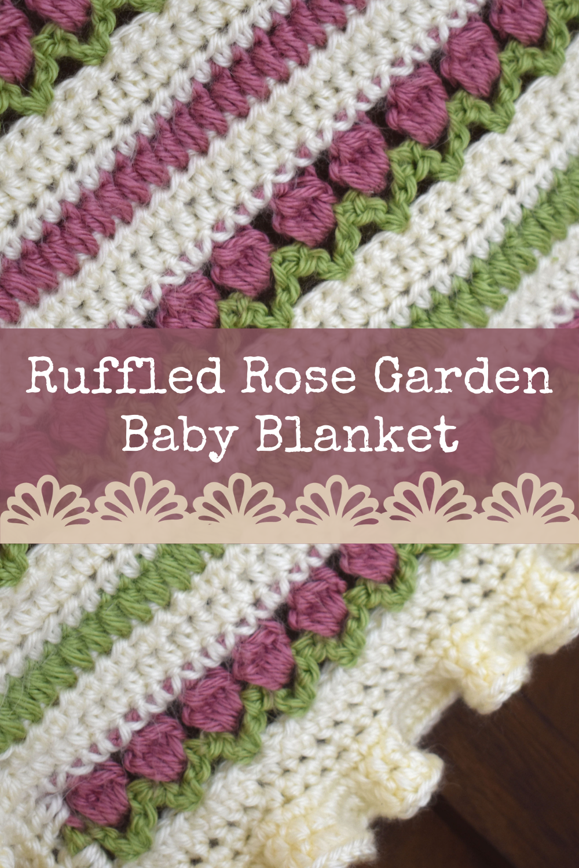 Ruffled Rose Garden Baby Blanket Crochet Pattern