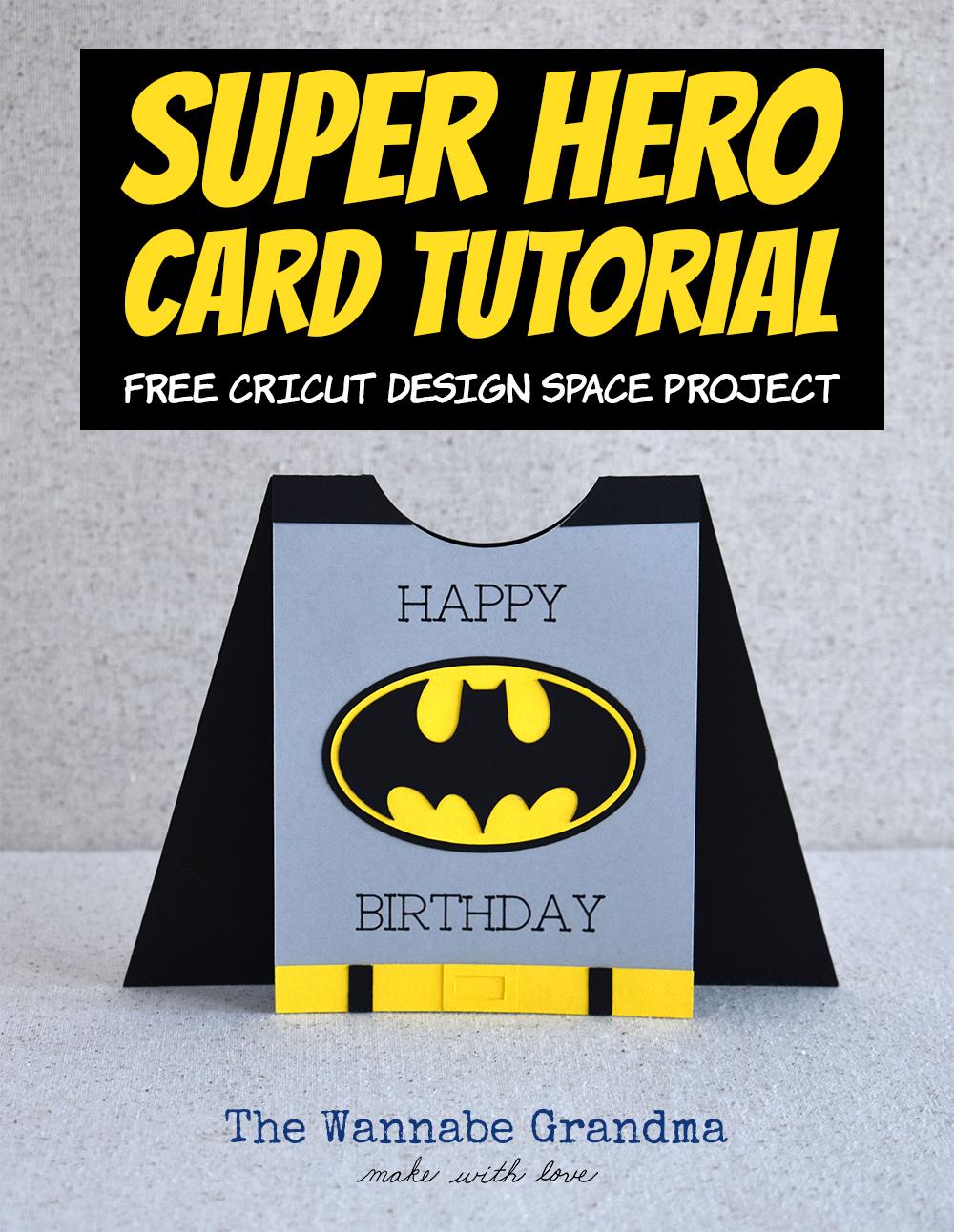 Superhero Card with Cricut