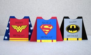 Superhero Card with Cricut