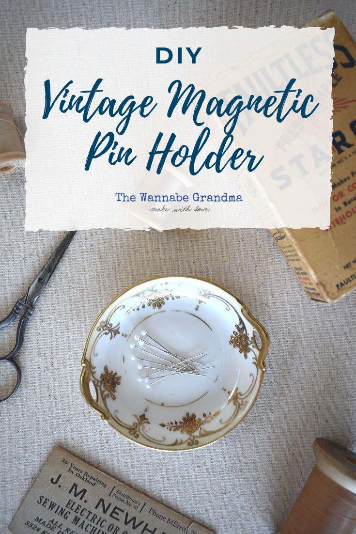 DIY Vintage Magnetic Pin Holder