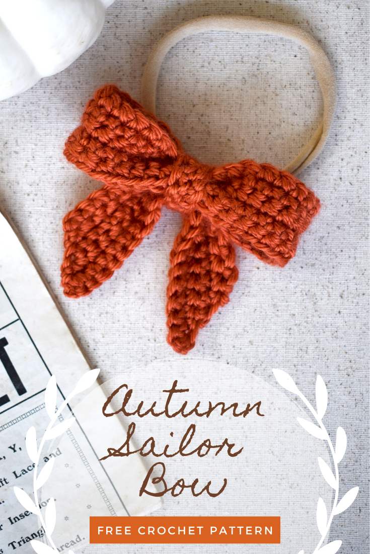Classic Sailor Hair Bow Free Crochet Pattern