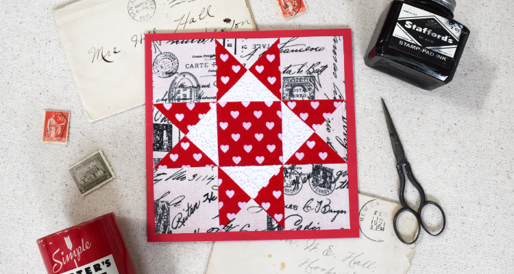 Ohio Star Quilt Valentine with Cricut