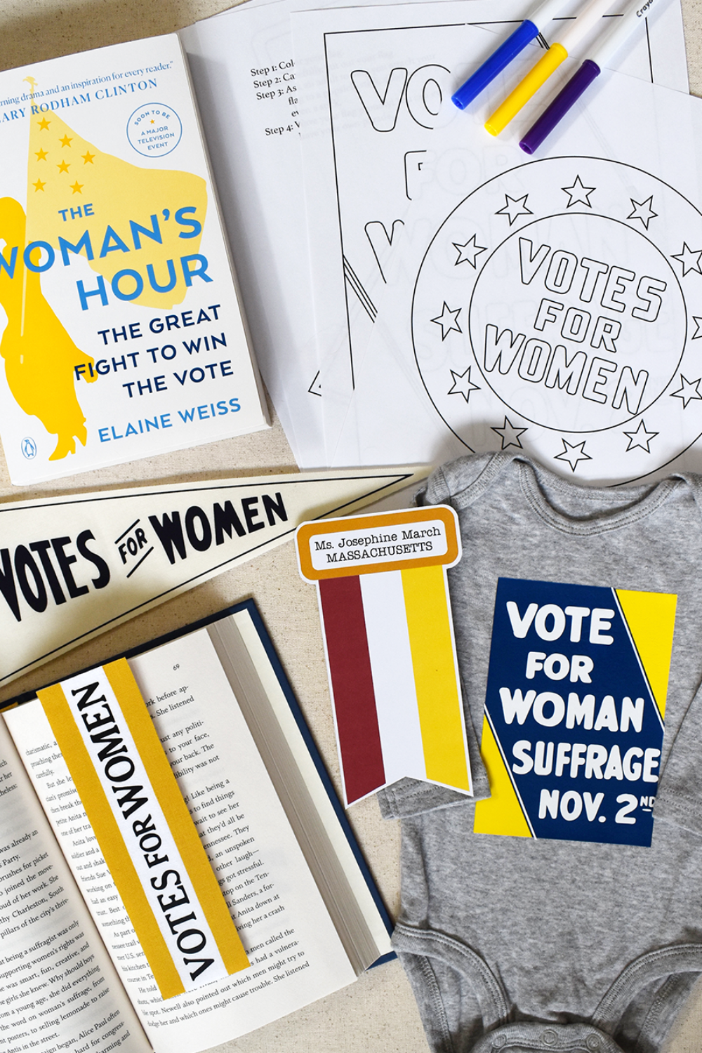 How to Commemorate 100 Years of Votes for Women | Free Coloring Pages
