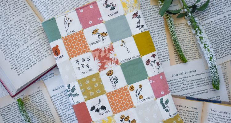 Elsinore Book Sleeve Free Quilting Pattern
